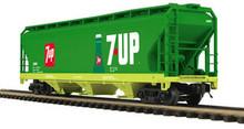 MTH Premier 7UP 3-Bay Centerflow Hopper, 3 rail
