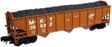 Atlas O M-K-T 3 bay 40' hopper car, 3 rail  or 2 rail