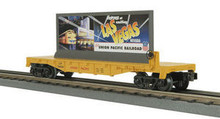 MTH Rail King UP Flat Car with Las Vegas billboard, 3 rail