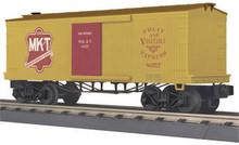MTH Rail King Missouri Kansas & Texas 34' 19th Cent. Box car, 3 rail