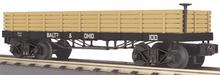 MTH Railking B&O 19th Century Gondola Car , 3 rail