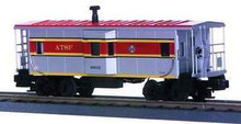 MTH Rail King Santa Fe Bay Window Caboose , 3 rail