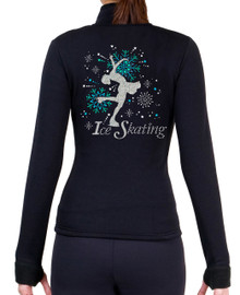 "Fitted Skating Fleece Jacket ""Ice Skating"" with Spangles S100"