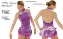 Mondor Skating Dress Style 12920 - Frosty Lavander