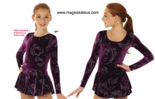 Mondor Skating Dress Style 2723, Purple - 4P