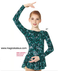 Mondor Skating Dress Style 2723, Jade Jaguar - J2