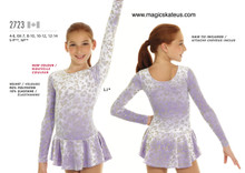 Mondor Skating Dress Style 2723, Lilac - LJ