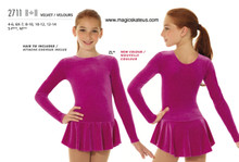 Mondor Skating Dress Style 2711, Pink Glitter - ZL