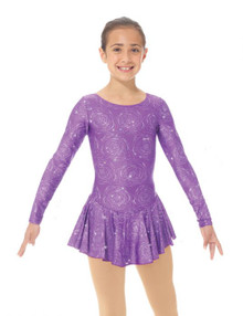 Mondor Skating Dress Style 00666, Purple Peony 7P