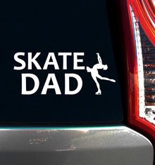 FIGURE SKATE DAD WINDOW DECAL