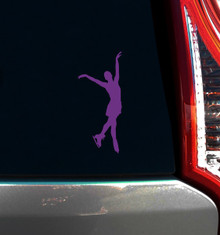 FIGURE SKATER WINDOW DECAL, END POSE