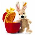 EAN 080227 Steiff plush Mr Cupcake rabbit in plush egg, beige