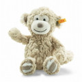 EAN 241895 Steiff plush soft cuddly friends Bingo monkey musical toy with rustling foil, light brown