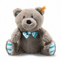 EAN 113741 Steiff plush soft cuddly friends Boris Teddy bear, gray brown