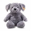 EAN 083587 Steiff plush soft cuddly friends Toni dog, blue gray