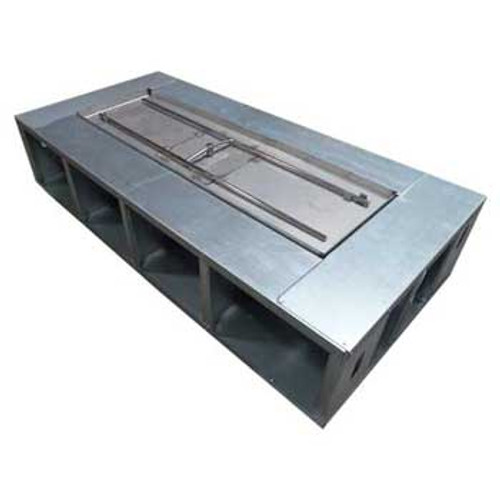 "100"" x 28"" Fire Pit Frame with 6"" decking (Manual Gas Burner)"