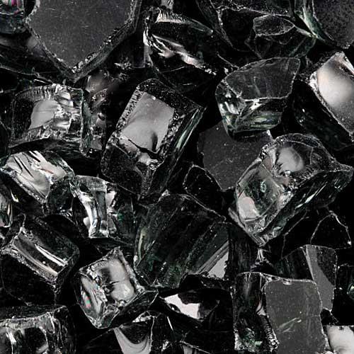 Black fire glass