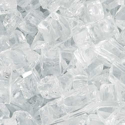 Crystal diamond fire glass