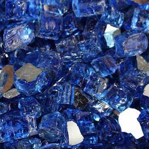 Cobalt reflective fire glass