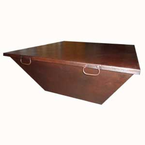 """40"""" square fire pit copper cover with bronze patina finish"""