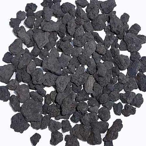 "1/2"" - 3/4"" black/gray crushed lava rock"