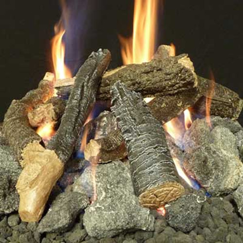 Beechwood fire pit logs and stones