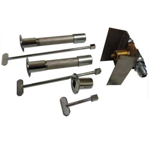 Manual valve kit with mounting bracket.  Includes: stainless steel bracket, brass valve, decorative valve cover, key.
