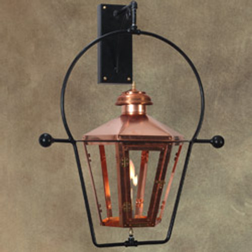Custom copper gas light with yoke wall mount- The Apollo II