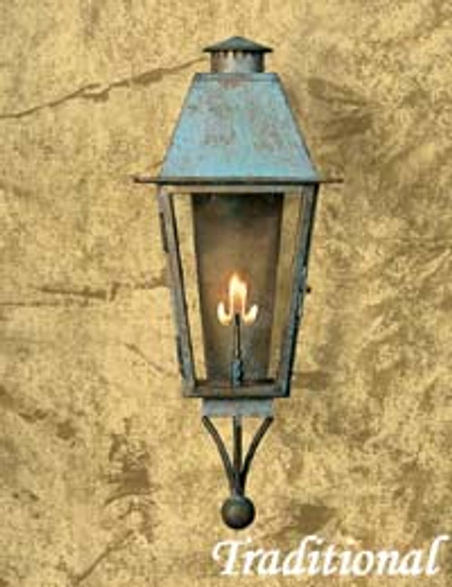 """Custom gas light with a variety of finishes- The Traditional """"A"""" Gas Light"""