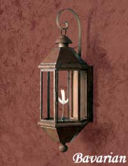 Large copper gas light-The Large Bavarian