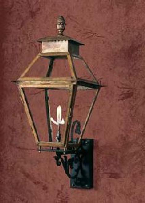 Large copper gas light- The Vicksburg Gas Light