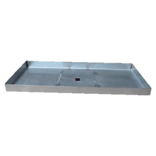 "40"" x 14"" rectangle stainless steel fire pit pan."