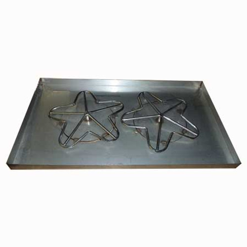 "42"" x 24"" rectangle fire pit pan."