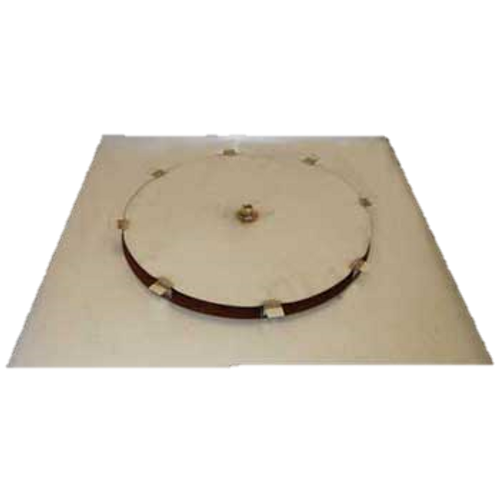 "34"" flat square fire pit disc with 18"" access plate"