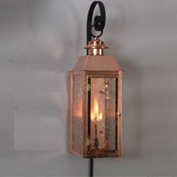 Handcrafted copper gas light- The Vulcan I with copper wall bracket & Vulcan I - Copper Wall Bracket Gas Light - Flame Creation azcodes.com