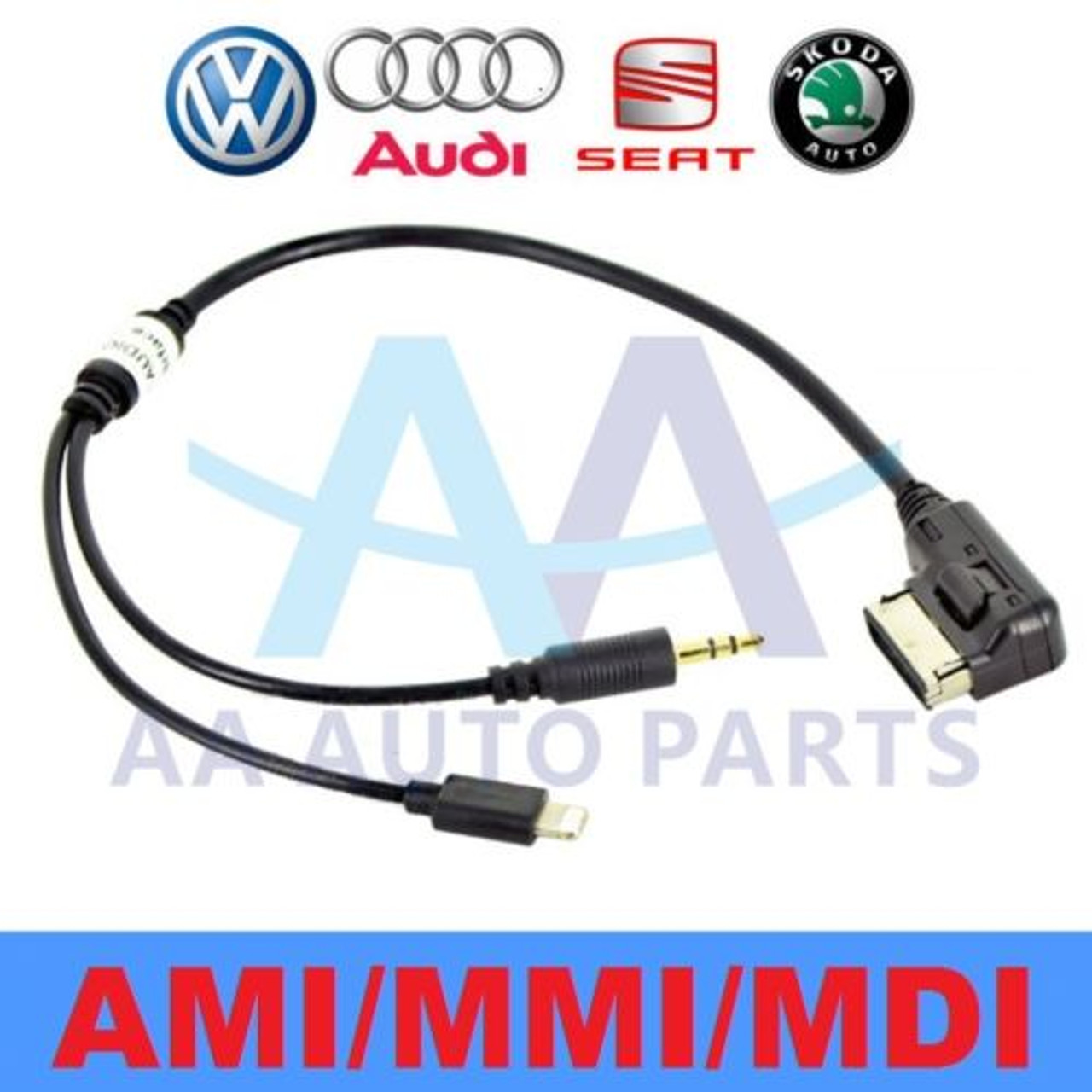 audi ami mdi mmi charger adapter aux cable apple iphone 5. Black Bedroom Furniture Sets. Home Design Ideas