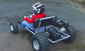 Ryan's home made go kart