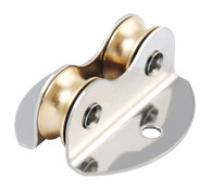 16mm Double Brass Through Deck Lightweight Plain Bearing Block