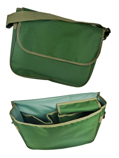 Quest Tack Bag with internal pockets, front and inside views