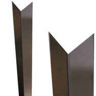 "96"" x 3"" Top x 1.5"" Bot - 90 Degree, 18ga, Type 304, Satin #4 Finish, Trapezoid Stainless Steel Corner Guard,  Chevron Top"
