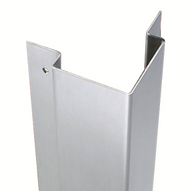 48'' x 3'' x 3'' x 625 (5/8'') - 90 Deg, 14ga, Type 304, Satin #4 (Brushed) Finish, w/Countersunk Mounting Holes Stainless Steel Flush Mount Corner Guard for 1/2'' Drywall