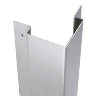 "108'' x 2'' x 2'' x 0.563"" - 90 Deg, 16ga, Type 304, Satin #4 (Brushed) Finish, w/Countersunk Mounting Holes Stainless Steel Flush Mount Corner Guard for 1/2'' Drywall"