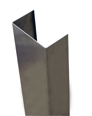 48'' x 2'' x 4.875'' x 2'' (Inside Dimensions)- 90 Deg, 16ga, Type 304, Satin #4 Finish, Stainless Steel End Wall Cap