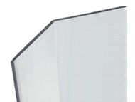 48'' x 2.5'' x 2.5'' - 135 Deg, .100'' Thick,  Lexan (Polycarbonate) Clear Corner Guard