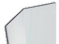 96'' x 2.5'' x 2.5'' - 135 Deg, .100'' Thick,  Lexan (Polycarbonate) Clear Corner Guard - Basic, No Holes, No Tape