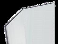 120'' x 2.5'' x 2.5'' - 135 Deg, .100'' Thick,  Lexan (Polycarbonate) Clear Corner Guard