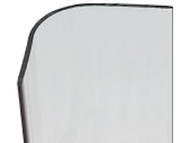 108'' x 2.5'' x 2.5'' - 90 Deg - 3/4'' Radius Bullnose, .100'' Thick,  Lexan (Polycarbonate) Clear Corner Guard