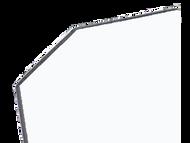 48'' x 2.5'' x 2.5'' - 135 Deg, .100'' Thick,  Lexan (Polycarbonate) Color Corner Guard, Non-Returnable