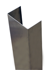 96'' x 2'' x 4.875'' x 2'' (Inside Dimensions)- 90 Deg, 16ga, Type 304, Satin #4 Finish, Stainless Steel End Wall Cap