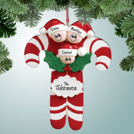 image of Candy Cane Family - 3 ornament
